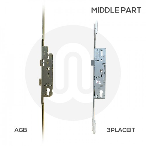 AGB Style 3PLACEIT Lock for AGB 2 Hook 3 Roller with Keeps