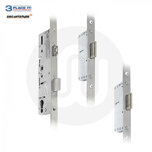 Securistyle Style 3PLACEIT Lock 20mm Faceplate - 2 Deadbolt