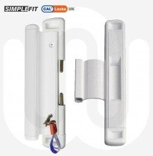 CAL Slide-Lok with Handle- Sliding Patio Door Lock for Double Doors