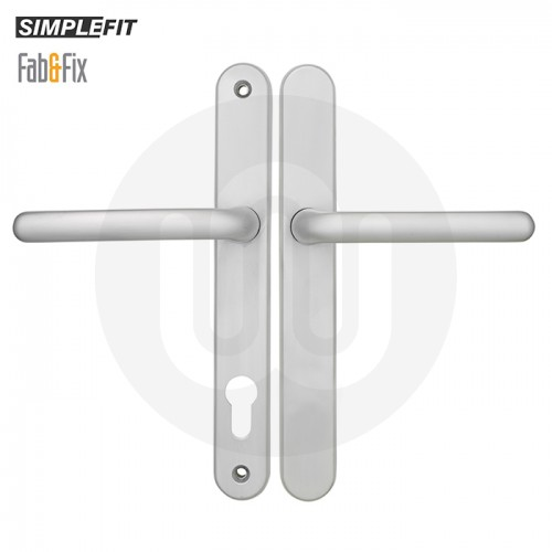 Simplefit by Fab & Fix Balmoral Lever/Lever 92mm/92mm No Outside Euro Door Handle - Medium Cover (243mm)