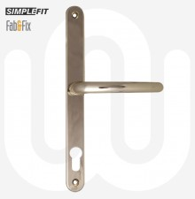Simplefit by Fab & Fix Sprung Door Handle - Large Backplate (270mm)