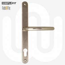 Simplefit by Fab & Fix Blenheim Sprung Inline Lever/Lever 92PZ/92PZ Door Handle - Large Cover (270BP/240CRS)