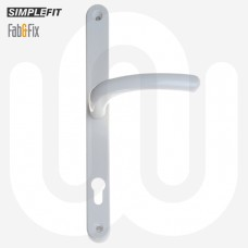Simplefit by Fab & Fix Universal Sprung Inline Lever/Lever 92PZ/92PZ Door Handle - Extra Large Cover (296BP/264CRS)