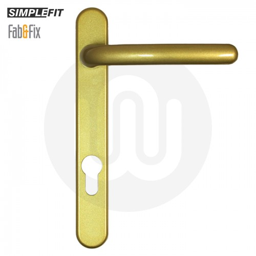 Simplefit by Fab & Fix Windsor Sprung Inline Lever/Lever 92PZ/92PZ Door Handle - Standard Cover (206BP/122CRS)