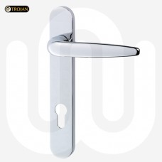 Trojan Door Handle 92mm - Short Backplate (212mm)