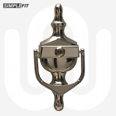 Simplefit Face Fix Urn Door Knocker with Spyhole - Large
