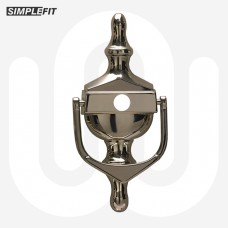 Simplefit Face Fix Urn Door Knocker with Hole for Door Viewer - Medium