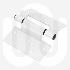 "Window Door Aluminium Alloy Screw Mounted Hinge White 100mm (4"") Length"