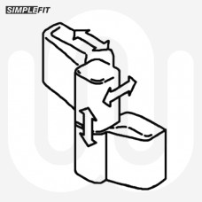 Simplefit 2 Part Aluminium Door Hinge