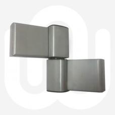 Aluminium 2 Leaf 3D Adjustable Hinge 42/42