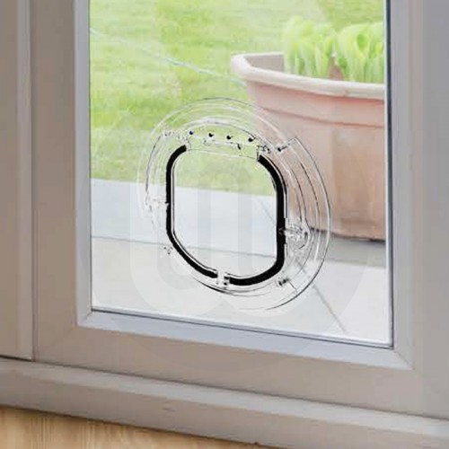 Large Cat Small Dog Flap For Glass Panels