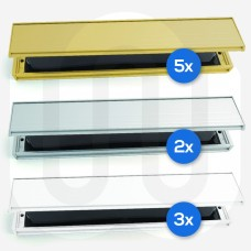 Slimline Letterboxes Mixed Pack of 10 - 40-80