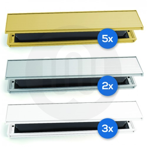 Slimline Letterboxes Mixed Pack Of 10 40 80