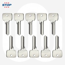 3 Star STOP Security Euro & Thumbturn Cylinder Key Blanks - Pack of 10