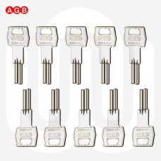 AGB Cylinder Dimple Key Blanks - Pack of 10