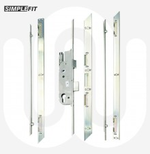Simplefit 4 Roller Door Lock with Non-Handed One Piece Keep