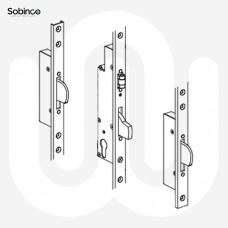 Sobinco 3 Deadbolt with Roller Catch - U-Rail Faceplate
