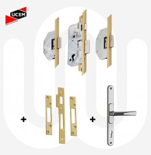 UCEM 3 Deadbolt Kit with Keeps & Handle - Possible Gridlock Lock Replacement