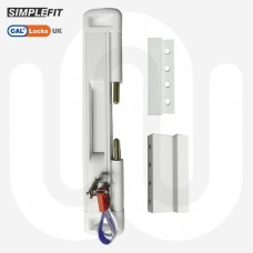 CAL Slide-Lok - Sliding Patio Door Lock for Single Doors with 2 Keep Options