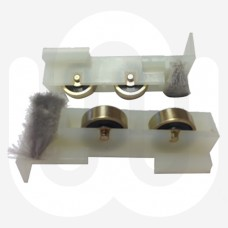 Secondary Glazing Brass Patio Rollers