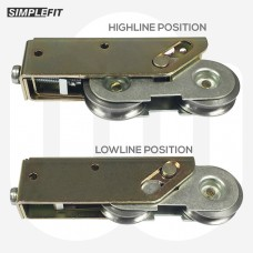 Simplefit Low to Highline Double Wheel Patio Rollers - Sold and Priced in Pairs