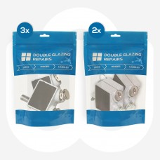 5x Pairs of Keyed Alike Patio Door Locks