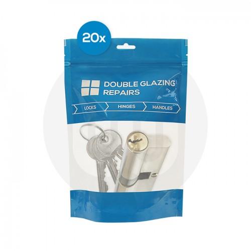 20x Mixed Dual Finish Euro Cylinders Individually Bagged
