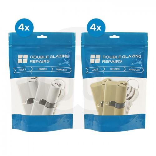 8x Mixed Pairs of Keyed Alike Euro Cylinders Individually Bagged