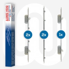 5x Mixed UPVC Repair Locks with Keeps Individually Boxed