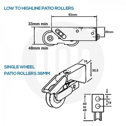 10x Mixed Patio Wheels Individually Bagged