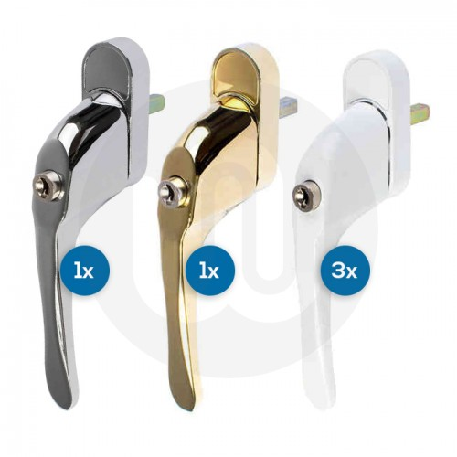 5x Mixed Tilt & Turn Window Handles Individually Bagged