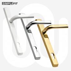 PREORDER & SAVE! 3x Simplefit Inline Door Handles 117mm PZ - Large Cover