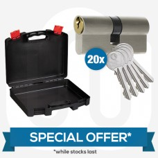 SPECIAL OFFER! 20x Mixed Standard Dual Finish Cylinders & Free Carry Case