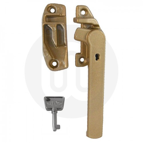 Shaw replacement timber cockspur window handle with keep for Window handles
