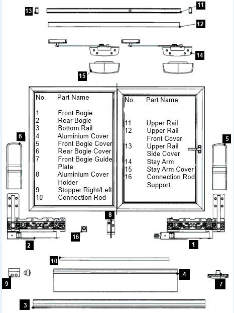 Full Tilt Amp Slide Repair Kit